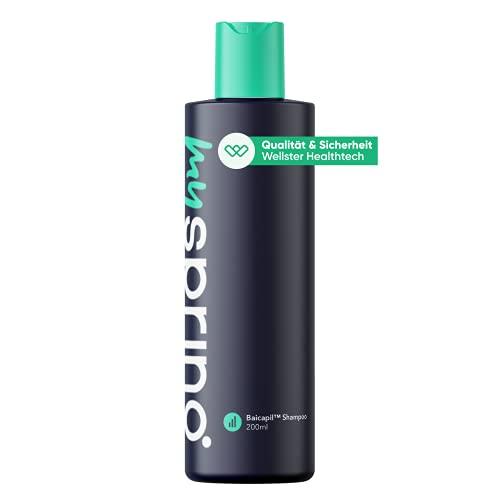 MySpring Baicapil ™ Shampoo – Herren-Shampoo gegen Haarausfall – Regt den Haarwuchs an und verdichtet das Haar - 200 ml