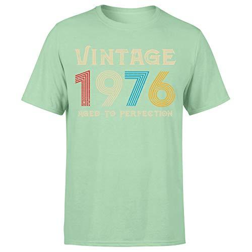 Camiseta clásica vintage de 1976 añejo a la perfección, regalo de 45 cumpleaños para hombre