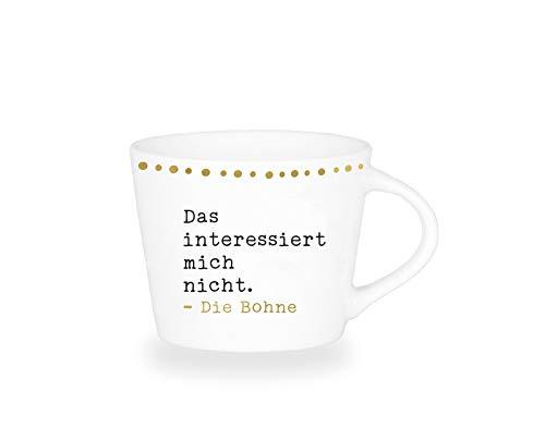 Grafik-Werkstatt Premium-Tasse, Nicht die Bohne, Espresso Tasse, Goldveredlung
