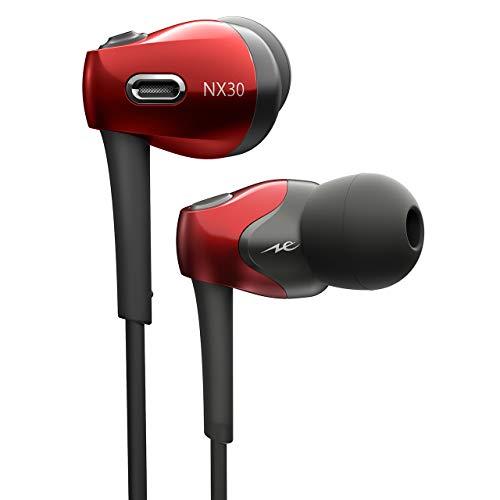 ラディウスradiusワイヤレスイヤホン:Bluetooth対応NeEXTRAシリーズ新技術FLW構造ドライバー搭載aptXLL/aptX/AAC対応IPX4防滴HP-NX30BTR(レッド)