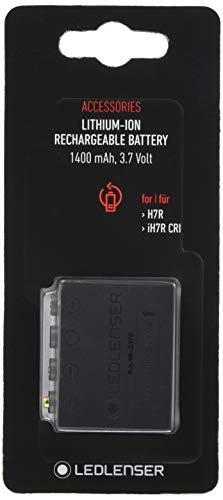 Ledlenser Li-Ion rechargeable Battery pack 1400 mAh, wiederaufladbare Batterie, leistungsstark, 3,7 V, Akku für Stirnlampe, 1 Stk.