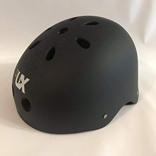 Rollschuh Kinder verstellbare Größe Helm Fahrradhelm SkateboardAuto Schlittschuhe Sport Hip-Hop Helm-Mattschwarz S (50-56CM) _5-10 Jahre alt