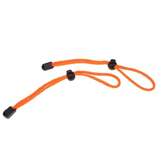 MagiDeal 2 Pcs/Set Bracelet de Poignet Cordon Attaché à Torche/Caméra en Nylon Ajustable Pour Plongée Sous-marine - Orange, 19,5 cm