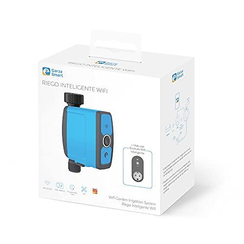 Garza ® Smarthome - Programador de riego automático Wifi con enchufe inteligente. Controlador programable para...