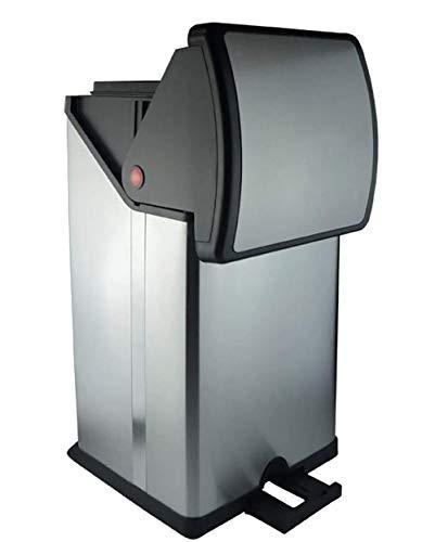 WXX Haushaltsplatz Pedal Trash Can Edelstahl 30L Silent-Trash Can Living Room Hotel Double-Layer Papierkorb mit Deckel leicht zu reinigen