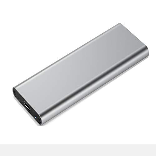 VDSOIUTYHFV Caja Disco Duro móvil M.2 Caja de Disco Duro de Estado sólido NVME Caja de Disco Duro Tipo c Transmisión de Alta Velocidad 3.1