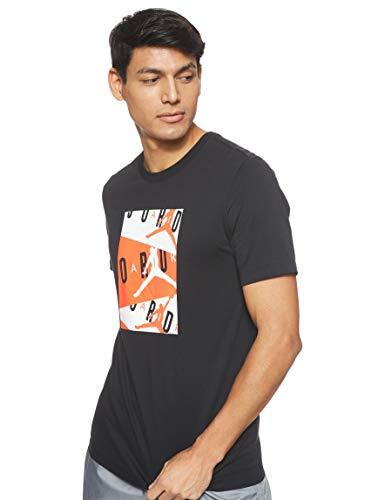 Nike M J Jordan Air SS Crew, T-Shirt Uomo, Black/Infrared 23, L