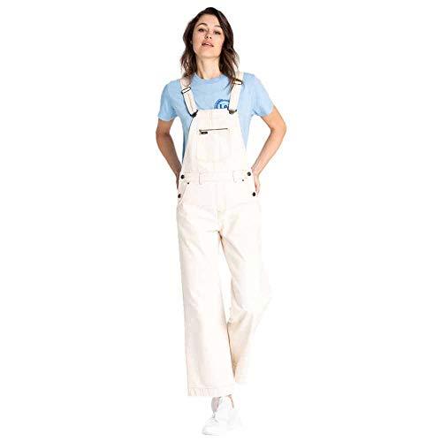 Lee Wide Bib Pantalones de Peto, Marfil (Off White FR), Large para Mujer