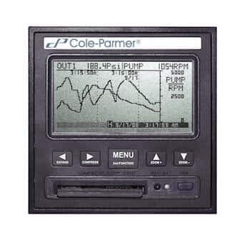 Cole-Parmer 2 Channel Electronic Paperless Recorder, w/2.0 USB Port, 100 to 240 VAC