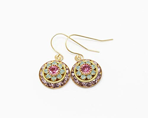 Vintage Swarovski Crystal Flower Earrings
