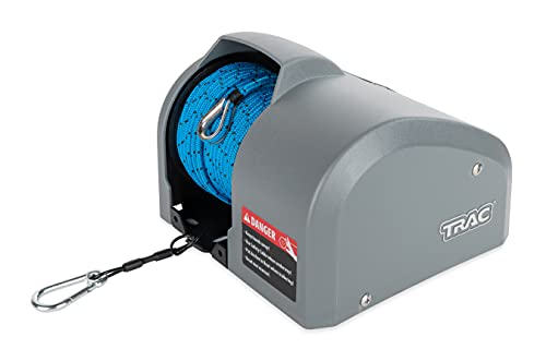 TRAC-Outdoor Products Angler 30 AutoDeploy-G3 Electric Anchor Winch - Anchors Up to 30 lb. - Includes 100-feet of Pre-Wound Anchor Rope with Use (69004), Gray, Normal