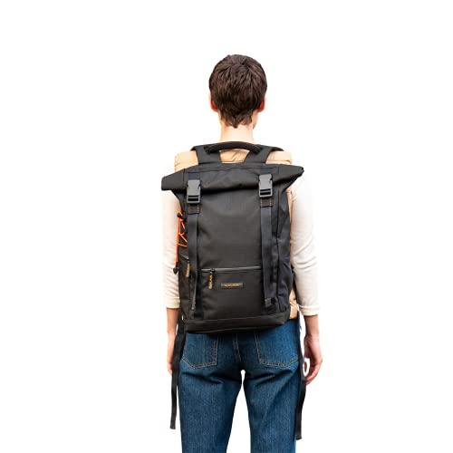 Nomad Bag L - Mochila multifunción, muy resistente y ligera, Negro , L