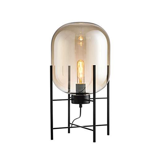 Lámparas de pie Iluminación de interior Lámparas Lámpara de pie nórdica moderna Lámpara de mesa de bola de vidrio loft Lámpara de escritorio Sala de estar Decoración de arte Pantalla de humo Lámpara d