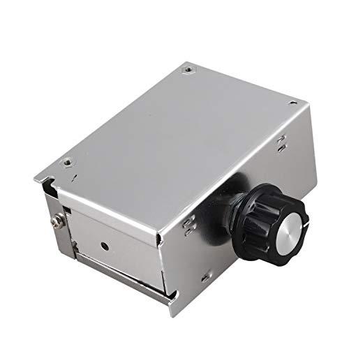 Ctzrzyt AC 220V 4000W Regulador del Controlador De Velocidad del Motor, Tablaro De Controlador De Velocidad Scr,Regulación del Termostato del Atenuador De Atenuación