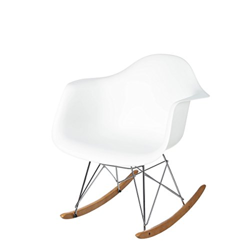 Lola Derek - Mecedora de diseño Minimalista Blanca de Polipropileno para salón Vitta