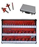 Frese per pantografo/fresatrice verticale/Punte lavorazione legno set 35 pezzi in valigetta gambo 6mm (Cod.:2861)