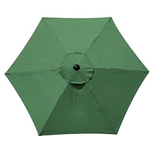 SUREN Parasol de repuesto para sombrilla de 10 pies, 6 costillas, cubierta de repuesto para sombrilla de mesa al aire libre, para mercado de mesa y sombrilla de repuesto (solo toldo)