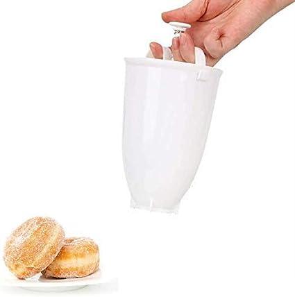 DIY donut Molde de gofres para hacer pasteles, donuts, máquina manual dispensadora de utensilios de cocina herramienta