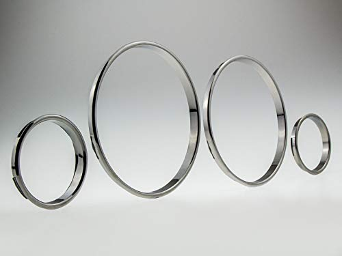 LETRONIX Black Chrom Tachoringe Tacho Ringe zum Clipsen für Fahrzeug Astra G und Zafira A