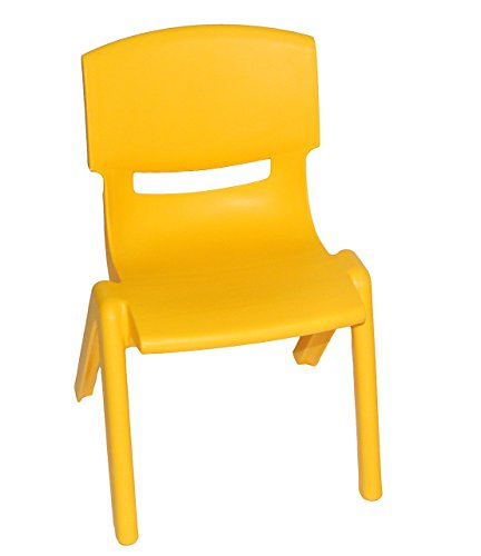alles-meine.de GmbH Kinderstuhl - GELB - stapelbar / kippsicher / bis 100 kg belastbar - für INNEN & AUßEN - Kindermöbel für Mädchen & Jungen - Plastik / Kunststoff - Stuhl Stühl..