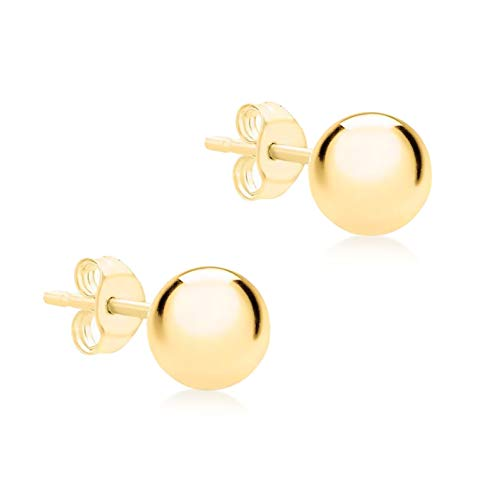 Carissima Gold Women's 9 ct Yellow Gold 8 mm Ball Polished Stud Earrings