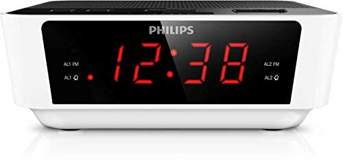 Philips AJ3115/12 Radiowecker (Digital Tuner mit Programmspeicher) weiß/schwarz