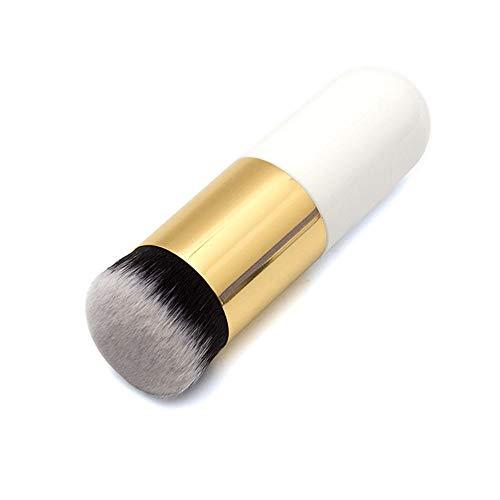 Sets De Pinceaux De Maquillage Pinceaux De Maquillage Pinceaux De Maquillage Professionnel Chubby Pier Foundation Brush Flat Concealer Cream Cosmetic Portable Makeup Tool-01 Blanc Doré