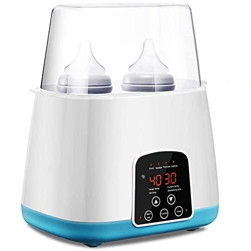 Calentador de biberones para bebés en movimiento, esterilizador de biberones doble más cálido y calentador de alimentos para bebés, calentador de biberones 6 en 1 calentador de biberones calentador