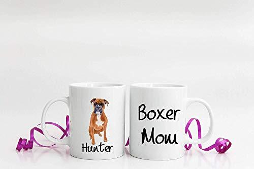 ChGuangm Personalized Boxer Mom Coffee Mug Gift Boxer Mom Dog Lover Gift...
