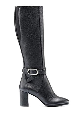 HUGO Damen Piper Boot 70-Gr Stiefel, Black1, 37 EU