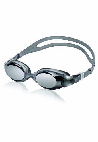 Speedo Unisex-Adult Swim Goggles Hydrosity , Mirrored Charcoal