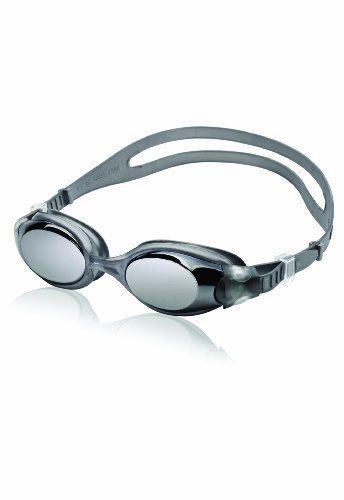 Speedo Unisex-Adult Swim Goggles Hydrosity , Mirrored Charcoal