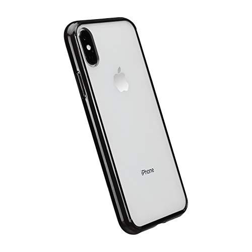Amazon Basics - Funda protectora para iPhone XS, TPU + PC (negro), antiarañazos