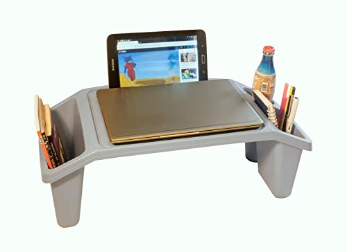 Laptop Tray, Bed Table, Lap Standing Desk for Bed and Sofa, Laptop Stand, Bed Tray Laptop, Breakfast, Coffee Tray, Notebook Stand, Reading, Eating, Working, Watching Movie on Bed, Couch, Sofa, Floor