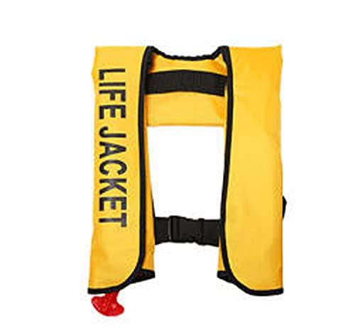 Dresspic Chaleco de Vida Adultos, Chaleco de Flotabilidad Inflación Automática Al Caer En El Agua, Chalecos De Vida Inflables Profesionales Chaqueta De Flotador De Cinturón Ajustable