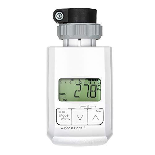Decdeal Heizkörperthermostat Elektronisch Programmierbarer Digitaler Heizkörperregler LCD Display Boost Funktion Raumheizgerät Temperaturregelung Klimaanlage Heizkörper Thermostat (Weiß)