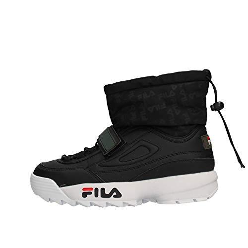 Zapatos de Mujer Botas FILA Disruptor Snow Mid WMN en Cuero Negro 1010750-25Y