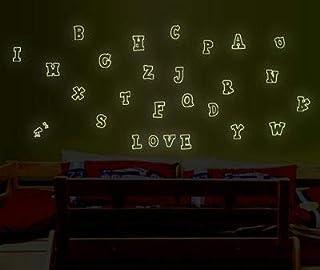 English letter Luminous Sticker Kindergarten children's classroom background wall stickers