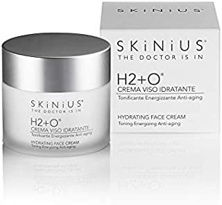 Skinius - H2+O Crema Viso Idratante Antiage, Tonificante ed Energizzante, 50 ml
