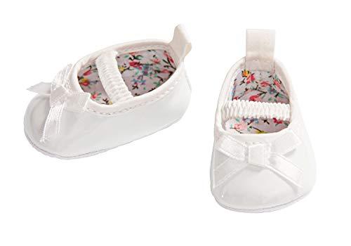 Heless 648 - Ballerinas für Puppen, weiß, Größe 38 - 45 cm