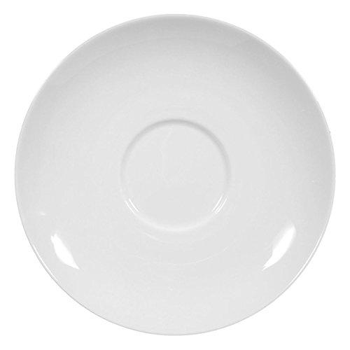 Seltmann Weiden 001.217100 Rondo - Untere/Untertasse zur Frühstückstasse - weiß Ø 16 cm