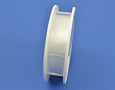 50m Clear 0.15mm Nylon Fishing Line Thread for Hanging Baubles & Decorations by Crafty Capers