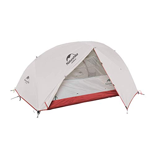 Naturehike Star River 2 Person Tent, Lightweight Backpacking 4 Season Tent Two Doors Double Layer Family Tent for Outdoor Camping, Hiking, Mountaineering, Bikepacking, Travel
