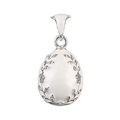 huevo ruso de Estilo Faberge Colgante / Pendiente con cristales 1,8 cm...