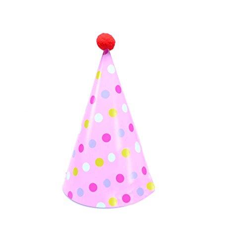 Blancho Fournitures [Colorisation Dots] 8Pcs Anniversaire d'enfants Hat Party Party Hat