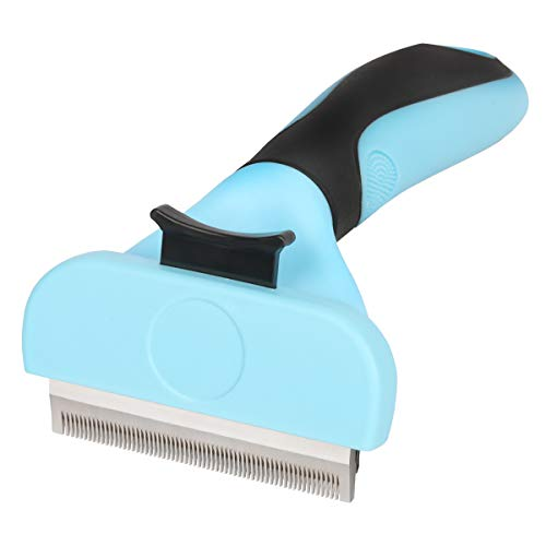 Samply Dog Shedding Brush Small- Pets Deshedding Tools for Long& Short Haired Dogs and Cats