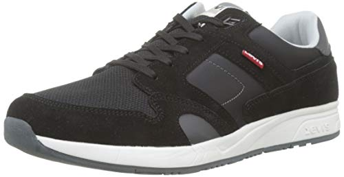 LEVIS FOOTWEAR AND ACCESSORIES Sutter, Zapatillas para Hombre, Negro (Regular Black 59), 43 EU