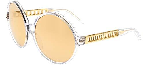 Occhiali da Sole Linda Farrow LINDA FARROW 451 CLEAR YELLOW GOLD Clear Yellow Gold/Gold Mirror 60/17/140 donna