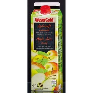 WeserGold Apfeldirektsaft, 8er Pack, 8 x 1 l