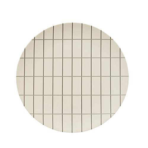 OYOY - Bamboo Grid - Tray/Tablett/Platte/Teller - Materialmix - Offwhite/Anthrazit - D 30cm - Large